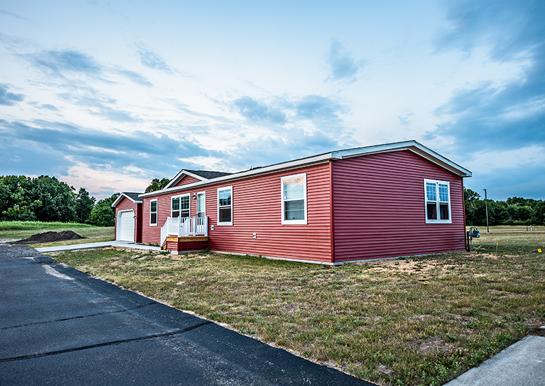 New manufactured home in a new community.