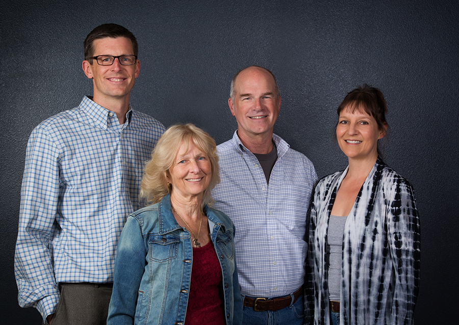 Group photo of the 4 members of the Missoula FCU Supervisory Committee.