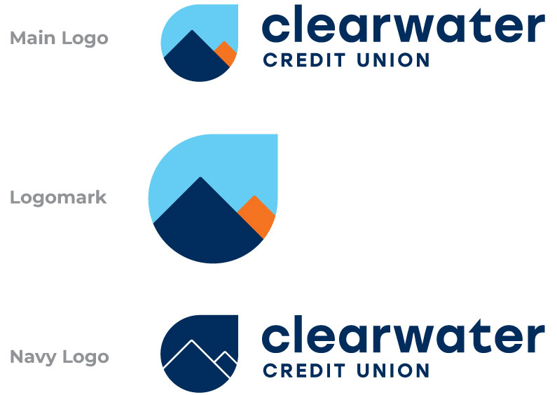 Clearwater Logo types